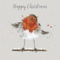 WRENDALE DESIGNS LUXURY BOXED CARDS CHRISTMAS ROBIN 8 CARDS