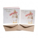 WRENDALE DESIGNS CHRISTMAS CRACKER 8 LUXARY CHRISTMAS CARDS