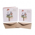 WRENDALE DESIGNS CHRISTMAS PLEASE STOP HERE 8 LUXARY CHRISTMAS CARDS