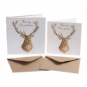WRENDALE DESIGNS CHRISTMAS STAG 8 LUXARY CHRISTMAS CARDS