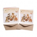 WRENDALE DESIGNS CHRISTMAS PARTY 8 LUXARY CHRISTMAS CARDS