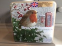 GRANDMA EMBOSSED ROBIN WITH TELEPHONE & POST BOX TIN