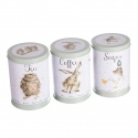 WRENDALE DESIGNS TEA, COFFEE AND SUGAR CANISTERS