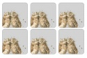 WRENDALE DESIGNS OWL COASTERS S/6