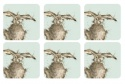 WRENDALE DESIGNS HARE COASTERS S/6