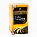 TWININGS ENGLISH BREAKFAST 50 TEA BAGS