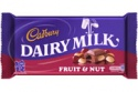 Fruit  & nut cadbury bar