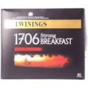 TWININGS STRONG ENGLISH BREAKFAST 1706 80 TEA BAGS