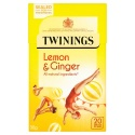 TWININGS LEMON AND GINGER 20 TEA BAGS