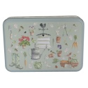 GRANDMA WILD'S EMBOSSED GARDEN  BISCUIT TIN BUTTER SHORTBREAD BISCUITS PETTYCOAT TALL
