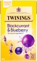 TWININGS BLACKCURRANT & BLUEBERRY 20 TEA BAGS