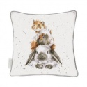 WRENDALE DESIGNS CUSHION PIGGY IN THE MIDDLE
